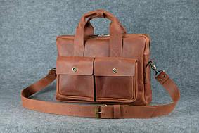 Портфель с карманами |10192| Коньяк