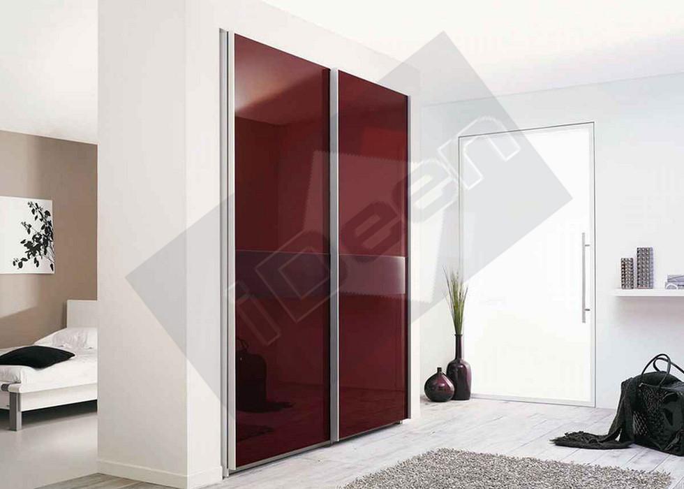 Шкаф купе крашенные панели, стекло - 05