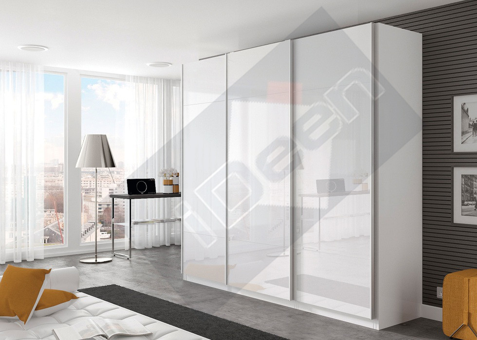 Шкаф купе крашенные панели, стекло - 06