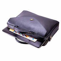 Женская кожаная сумка для ноутбука Felice Fl15 черная, фото 3