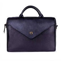 Женская кожаная сумка для ноутбука Felice Fl15 черная, фото 2