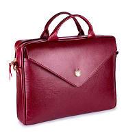 Женская кожаная сумка для ноутбука Felice Fl15 бордовая