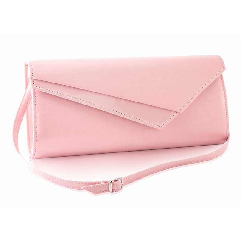 Стильный женский клатч розовая пудра Felice f17