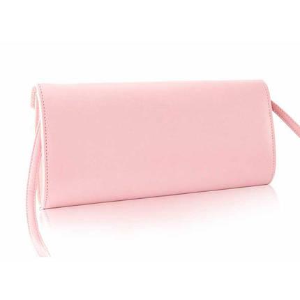 Стильный женский клатч розовая пудра Felice f17, фото 2