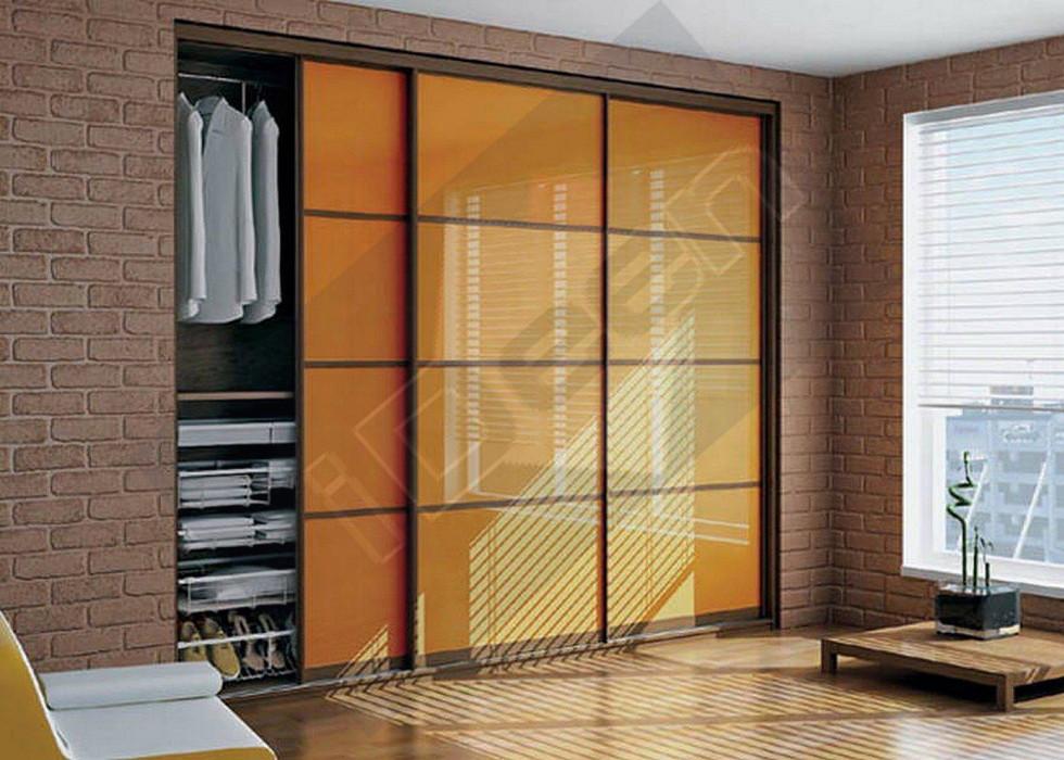 Шкаф купе крашенные панели, стекло - 08