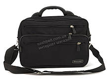 Вместительная мужская сумка высокого качества под формат А4 Wallaby art. 2653 черная Украина