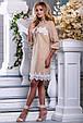 Красивое летнее платье-рубашка 2668 светлый кофе, фото 4