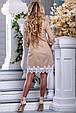 Красивое летнее платье-рубашка 2668 светлый кофе, фото 5