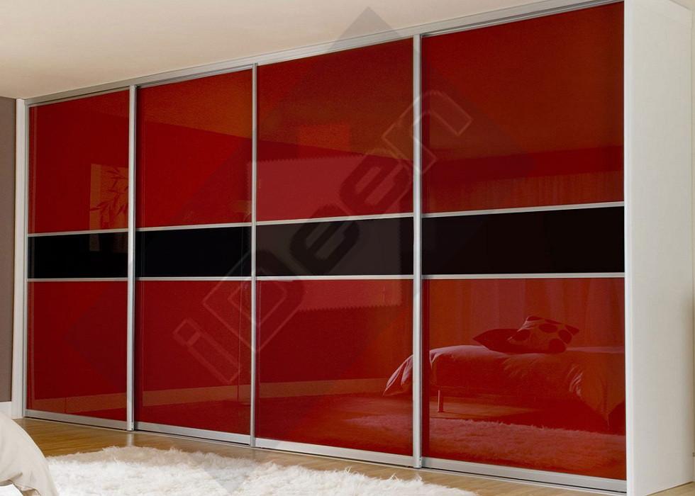 Шкаф купе крашенные панели, стекло - 10