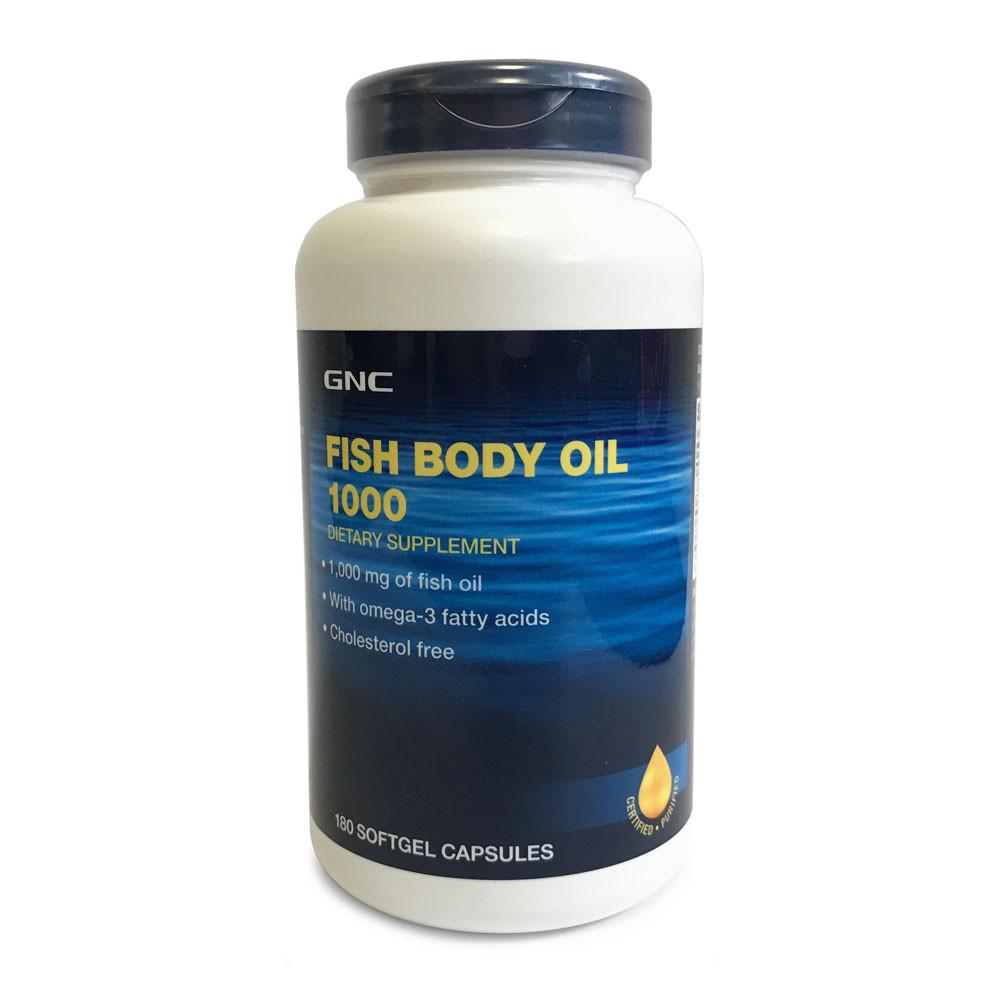 Риб'ячий жир GNC Fish Body Oils 1000 caps 180