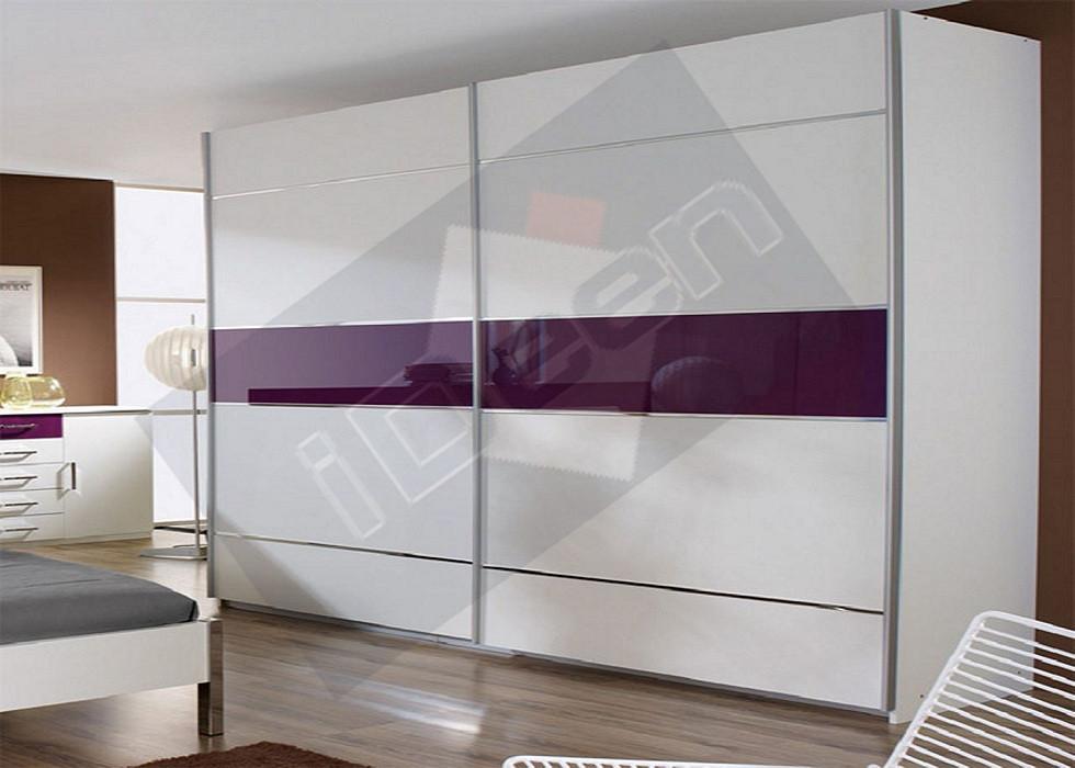 Шкаф купе крашенные панели, стекло - 11