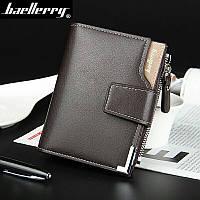 Мужской кошелёк коричневый, портмоне, бумажник бренд baellerry
