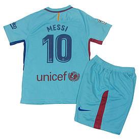 Футбольная форма Барселона (реплика) детская 2017-2018 Месси (Barcelona Messi) гостевая