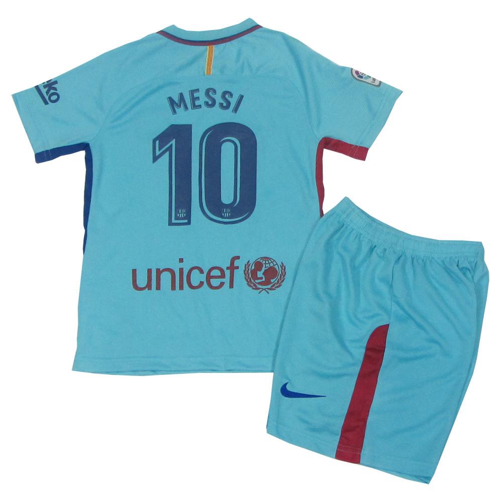 1b6dfe7bb7dd Футбольная форма Барселона (реплика) детская 2017-2018 Месси (Barcelona  Messi) гостевая
