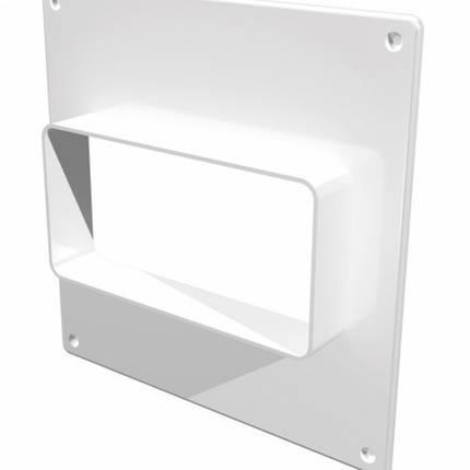 Площадка торцевая пластиковая для плоских воздуховодов, фланец, 60х204мм, 264х119 мм,, фото 2