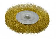 Щетка крацовка дисковая, латунная, 115х16мм   18-053