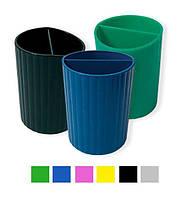 Подставка-стакан для ручек, малиновый пластик СТРП-02