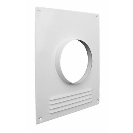 Площадка торцевая металлическая с решеткой, d 110 мм, 196х236 мм | 60-285