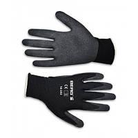 Перчатки, тонкое двойное плетение, волнистый латекс, L-XL | 16-232