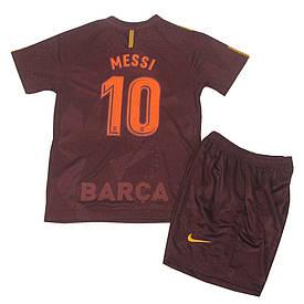Футбольная форма Барселона (реплика) детская 2017-2018 Месси (Barcelona Messi) резервная