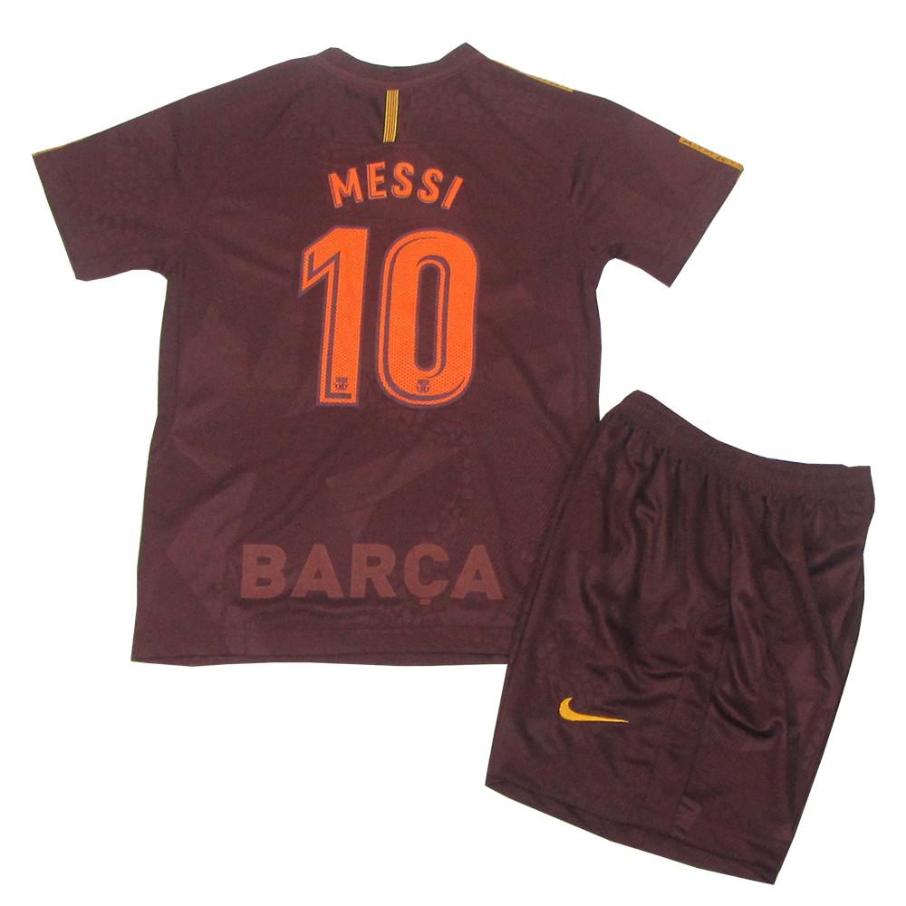 4d2666d940aa Футбольная форма Барселона (реплика) детская 2017-2018 Месси (Barcelona  Messi) резервная