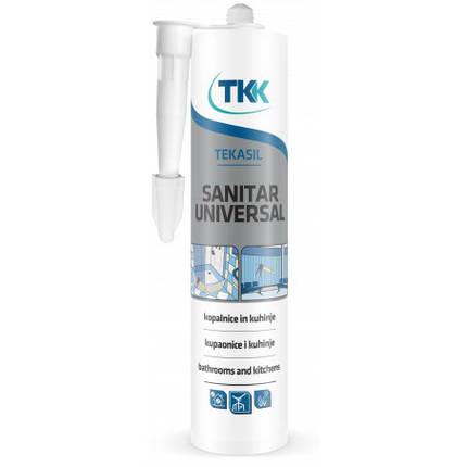 Герметик силиконовый санитарный Tekasil Sanitar Universal, белый, 280 мл | 12-340, фото 2
