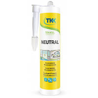 Герметик силиконовый нейтральный Tekasil Neutral, белый, 280 мл | 12-351