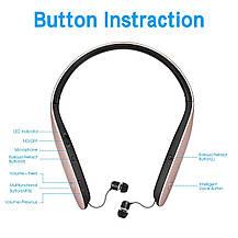 Складные Bluetooth наушники Brondotech с микрофоном, фото 3