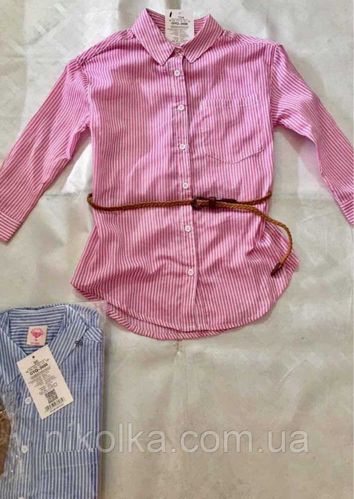 Рубашка для девочек оптом, Glo-story, 98-128 рр.  Арт. GCS-3698