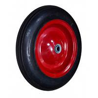 Колесо с металлическим диском на литой резине, 15'', ось 20х75 мм | 70-431