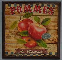 """Настінний декор, пано """"Pommes"""" (16х16 див.), фото 1"""