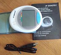 Тонометр автоматический на запястье Sanotec MD 15236 с искусственным интеллектом, подключением к ПК, Германия, фото 1