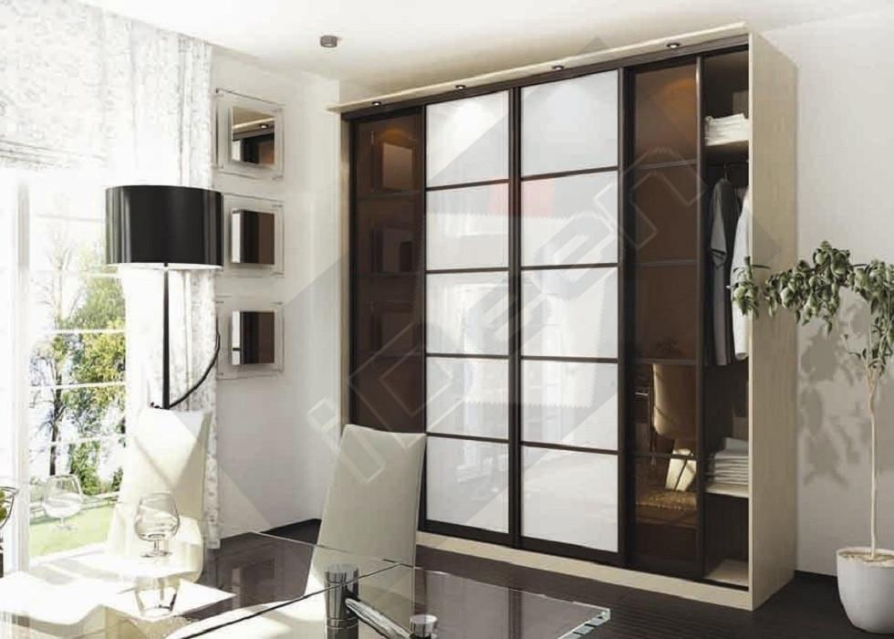 Шкаф купе крашенные панели, стекло - 13