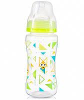 Антиколикова бутылочка с широким горлышком салатовая  300мл