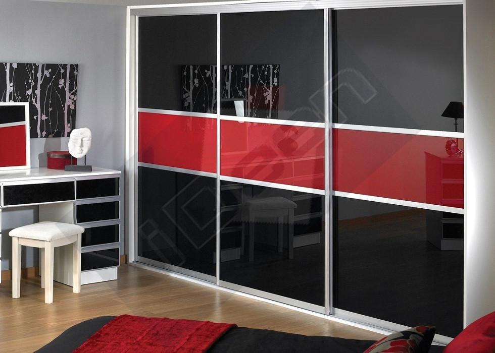 Шкаф купе крашенные панели, стекло - 14