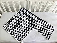 Непромокаемая многоразовая пеленка для новорожденного «Черно-белый зигзаг»,  хлопок f3337e937c1