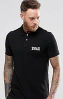 Футболка поло мужская Swag, свэг черная