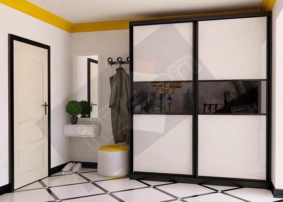 Шкаф купе крашенные панели, стекло - 19