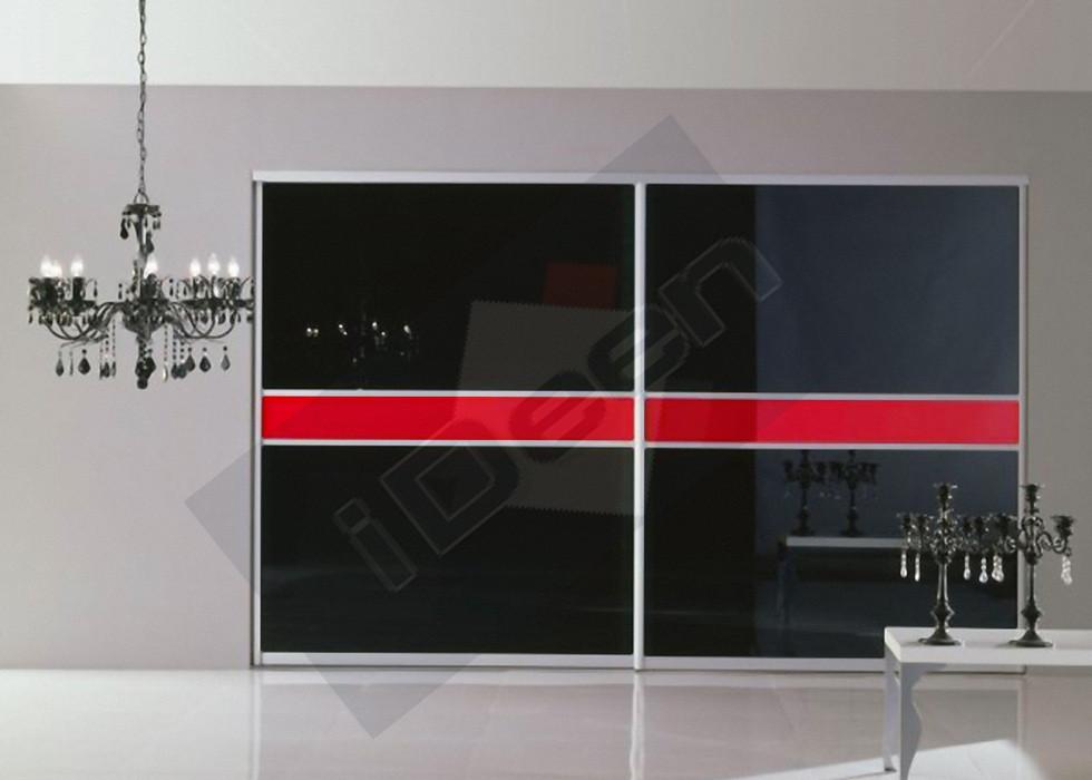 Шкаф купе крашенные панели, стекло - 20