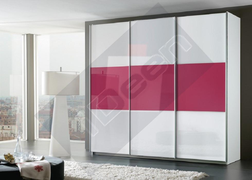 Шкаф купе крашенные панели, стекло - 23