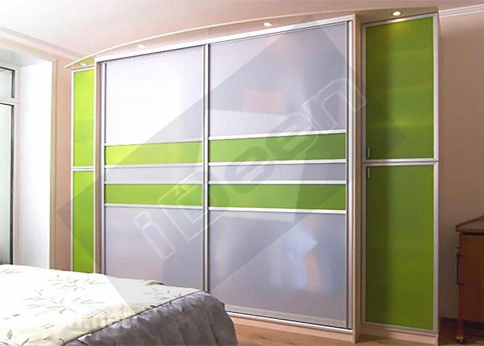 Шкаф купе крашенные панели, стекло - 24