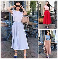 Длинная юбка с карманами 16429, фото 1