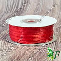 055-Атласная лента 91м. 03мм красная