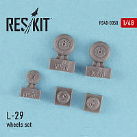 L-29 wheels set 1/48  RES/KIT 48-0058