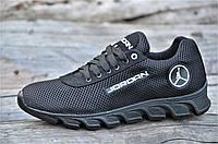 Стильные кроссовки мужские реплика Jordan сетка с замшей черные удобные (Код: 1182), фото 1