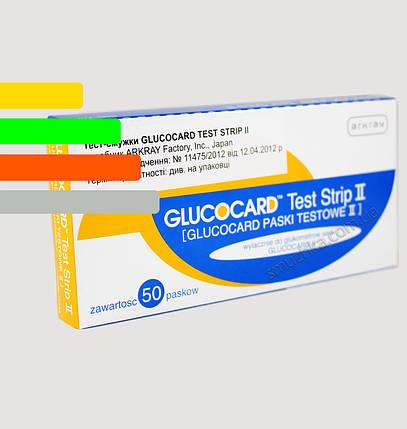 Тест-полоски Глюкокард 2, 50 шт. - Glucocard II #50 Arkray, фото 2