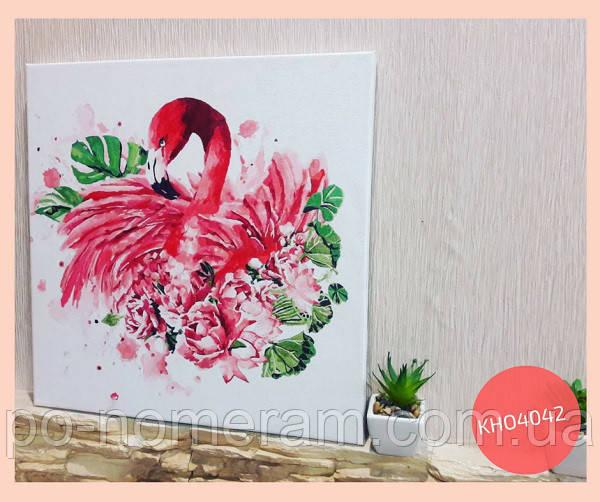 нарисованная картина фламинго