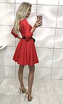 Женское платье красного цвета, фото 2