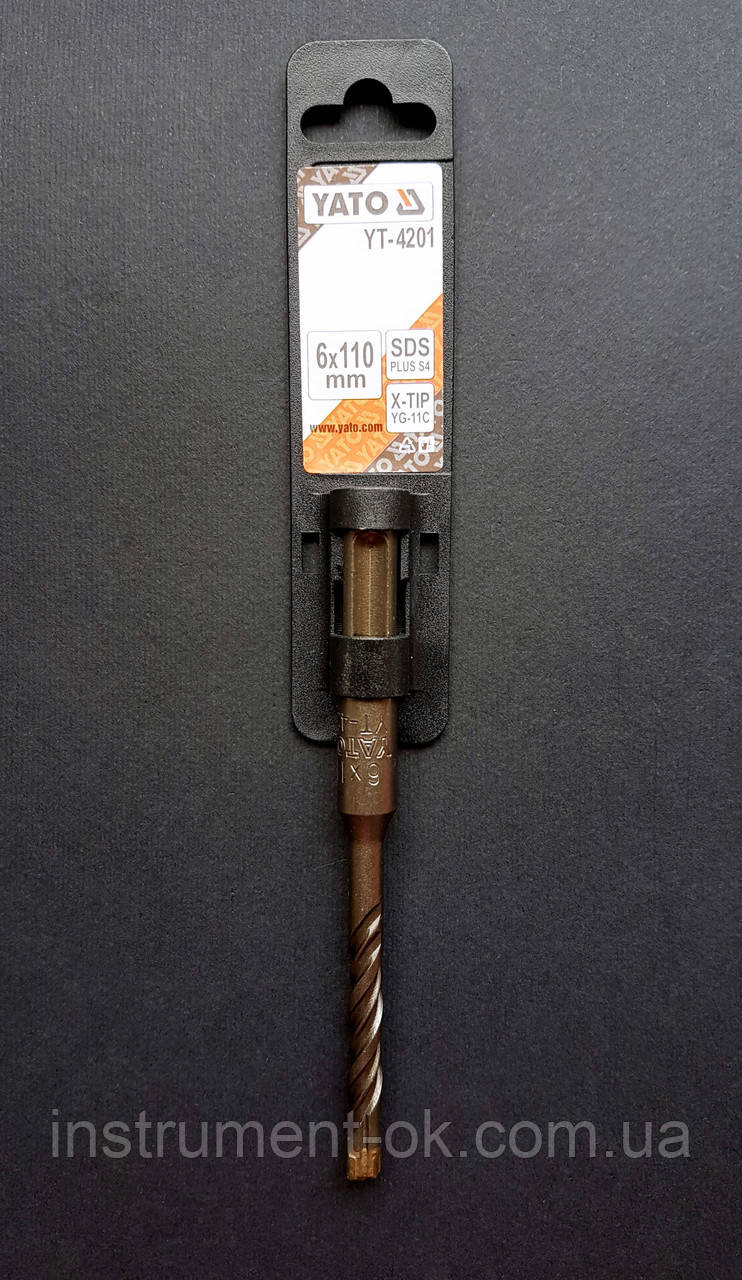 Сверло по бетону перфораторное 6х110 YATO (КВАДРО)