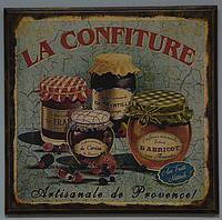 """Дерев'яне панно настінне """"La Confiture"""" (22х21,5 див.), фото 1"""